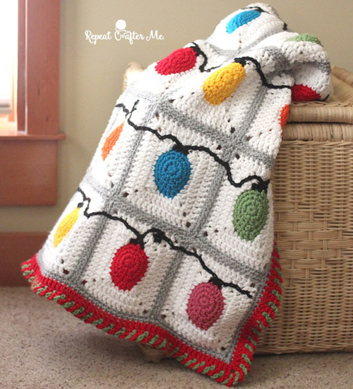 Crochet Lights Blanket - Free Pattern