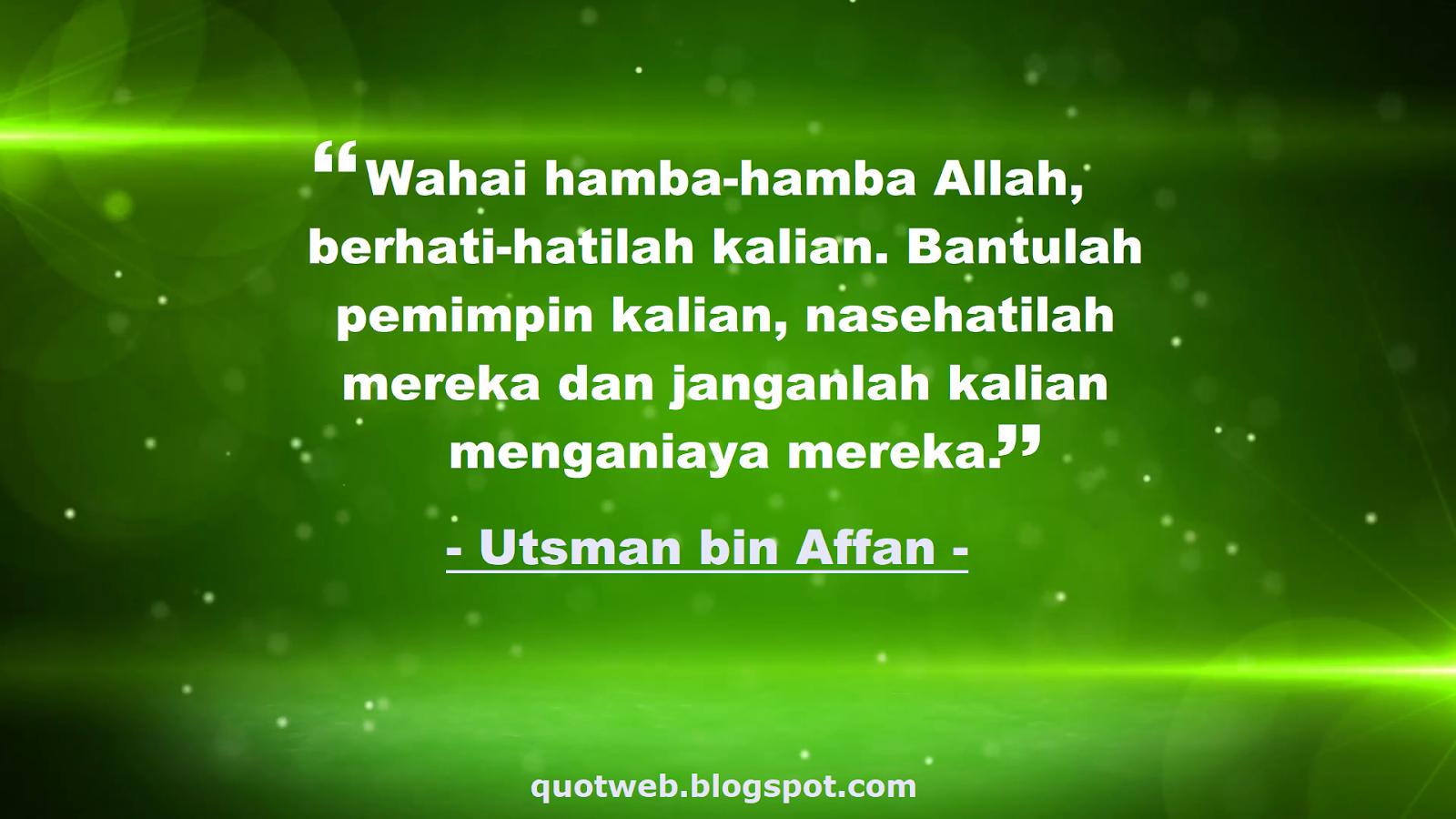 kumpulan kata bijak usman bin affan ra quotweb