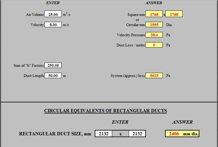 Engineering-xls: Total HVAC Calculations in One Excel Sheet