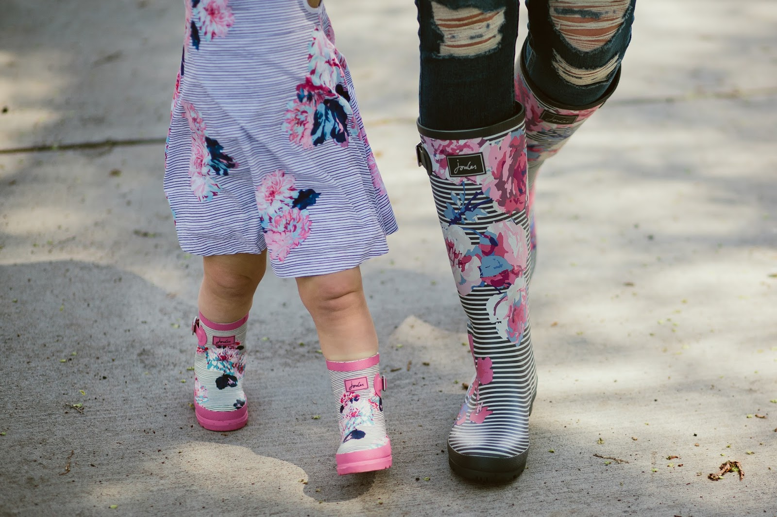 Striped Rain Boots, Floral Rain Boots, Mommy and Me Rain Boots