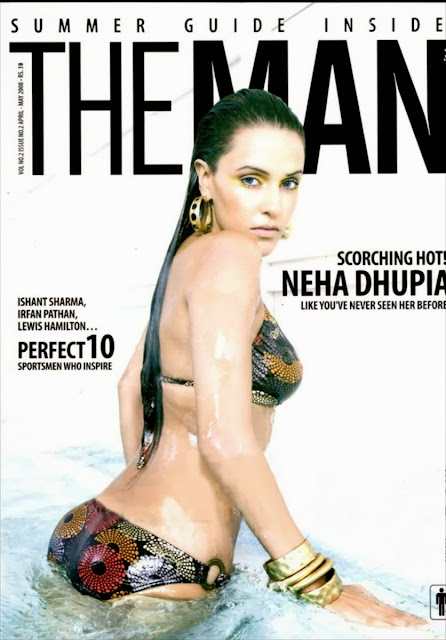 neha-dhupia-in-the-man-magazine-front-cover-wearing-two-piece-bikini