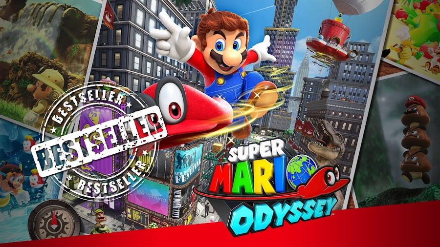 super mario odyssey best-seller mario game nintendo