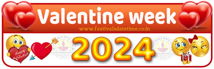 2024 Valentine Week List Calendar, 2024 Valentine Day All Dates & Day