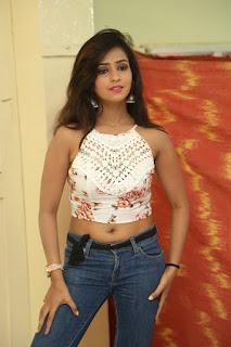 Deekshita Parvathi in a short crop top and Denim Jeans Spicy Pics Beautiful Actress Deekshita Parvathi January 2017 CelebxNext (19).JPG