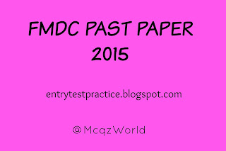 FMDC Past Paper 2015