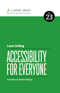 "Book Cover for Laura Kalbag's book ""Accessibility for Everyone"""