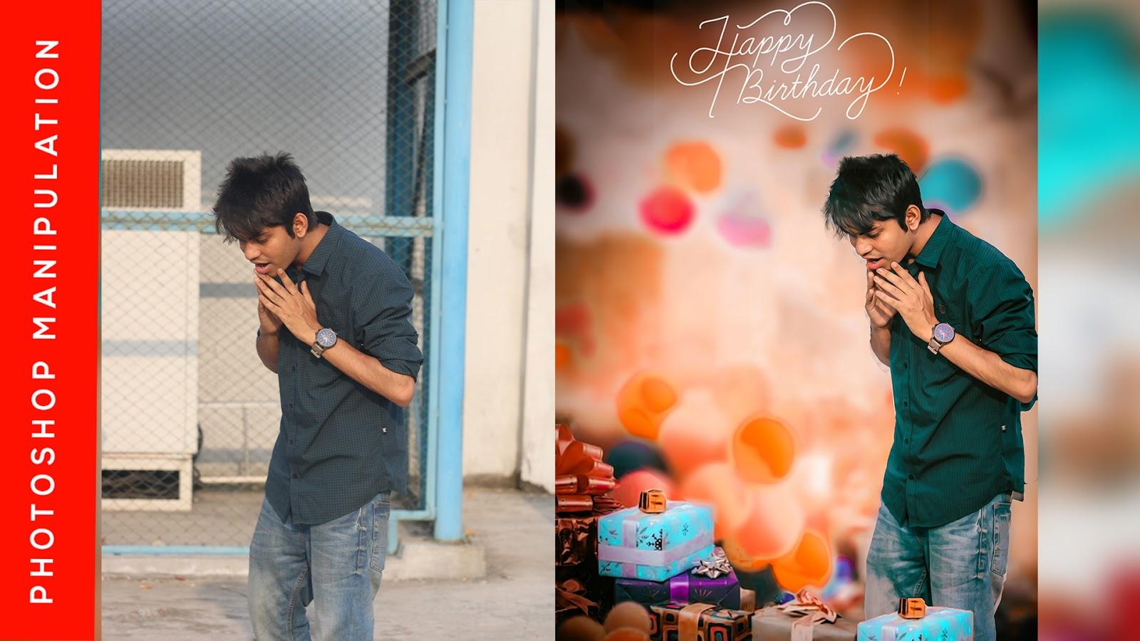 how to make birthday card on photoshop cc