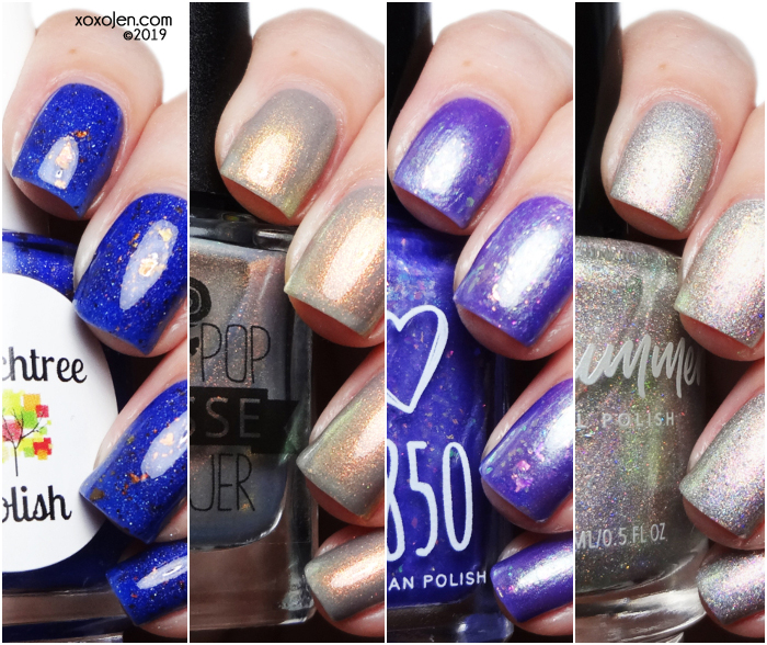 xoxoJen's swatch collage of Polish Pickup: August 2019