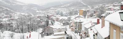 Vista de Barruelo de Santullán nevado
