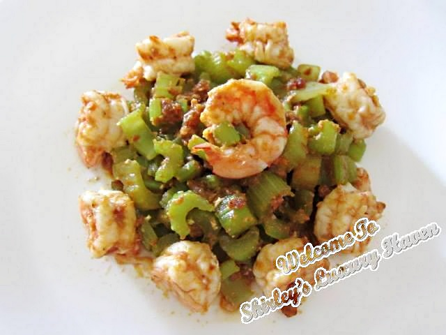 how to cook spicy celery prawns with happy call