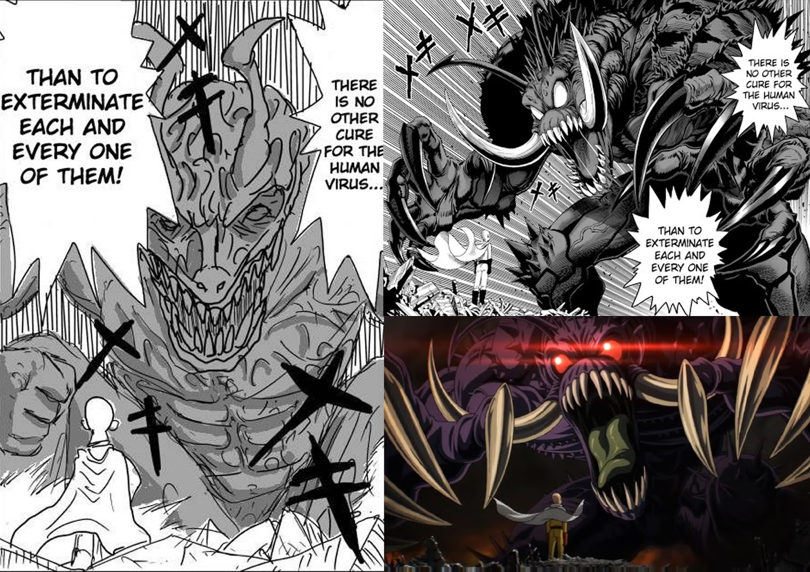 Vs manga one man comparison webcomic punch One Punch