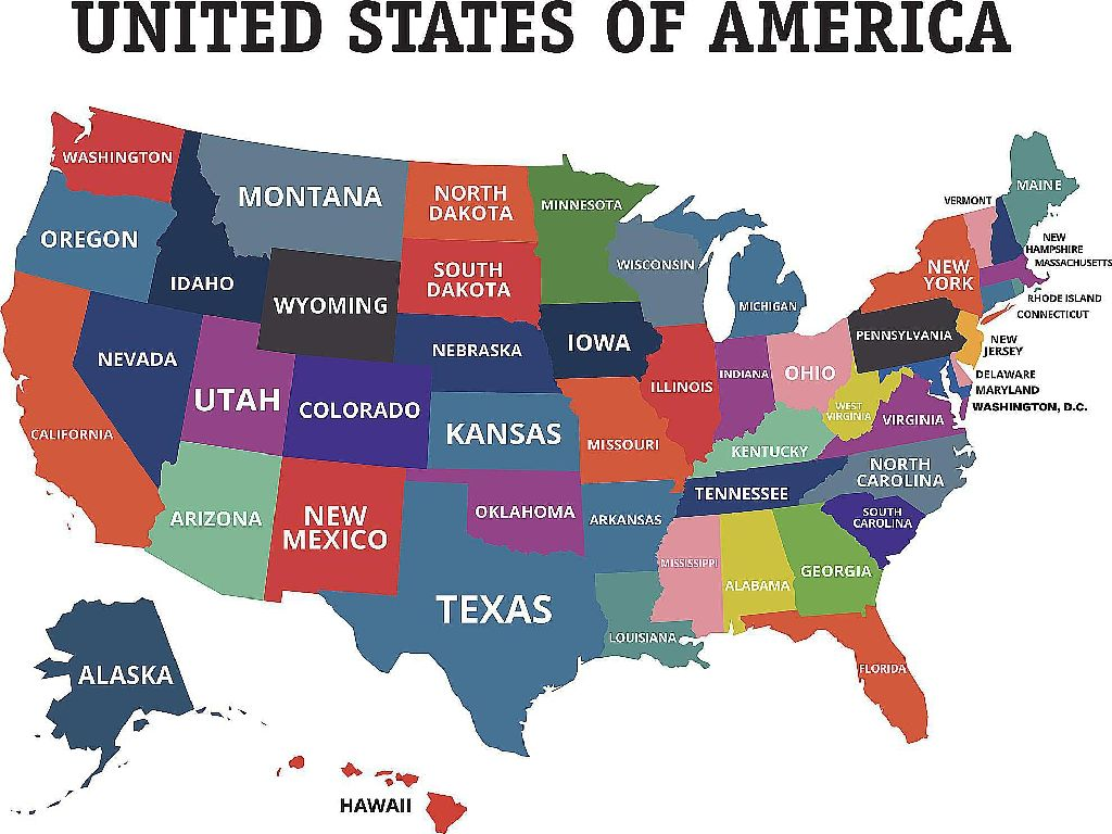 united state states map