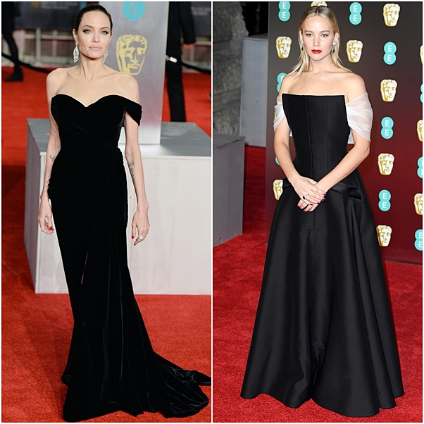 looks bafta angelina Jolie Jennifer Lawrence