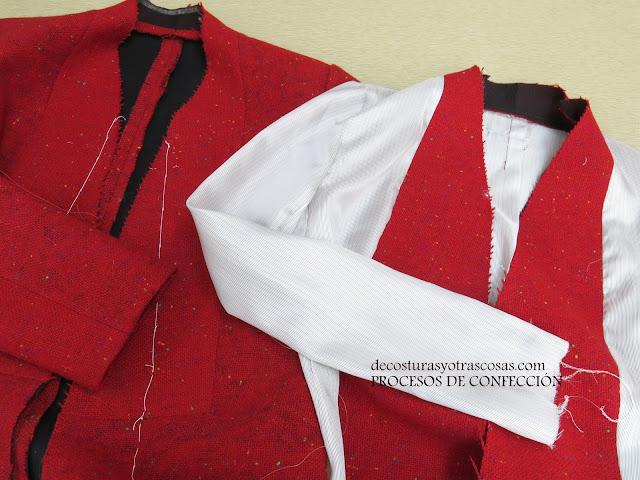 como forrar una chaqueta simple
