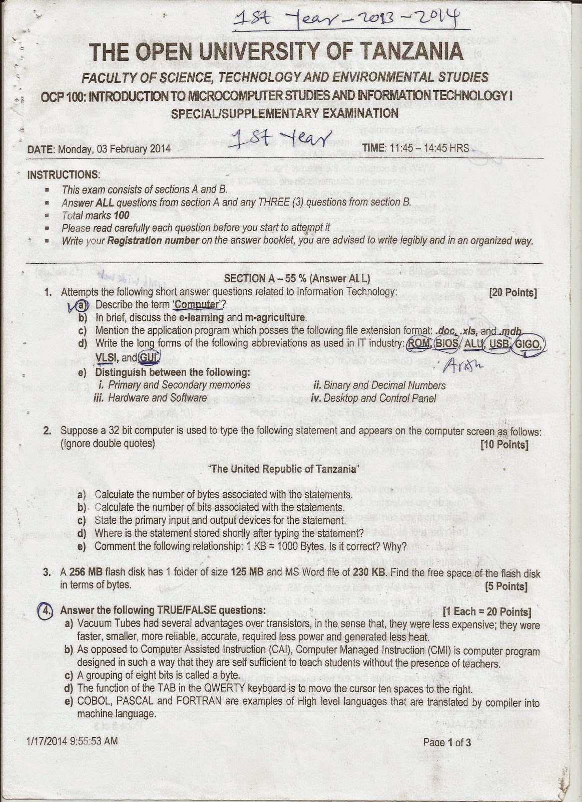 JAPHET MASATU BLOG: OCP 100 : INTRODUCTION TO