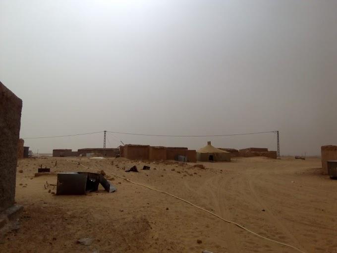 Campamentos saharauis baten récord de temperatura; 54,3 grados.
