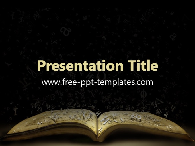 book ppt template, Powerpoint templates