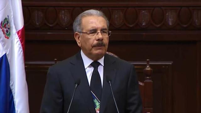 Oposición dominicana pide juicio político contra Danilo Medina