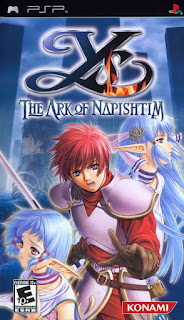 Portada del disco de Ys VI: The Ark Of Napishtim (Falcom, 2006, PSP)