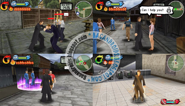 Screenshoot Game Kenka Bancho: Badass Rumble USA ISO CSO High Compress For PPSSPP Android