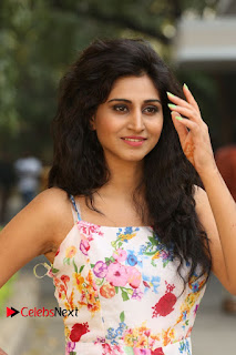 Actress Shamili Stills in Floral Short Dress at Sree Ramaraksha Song Launch 0085