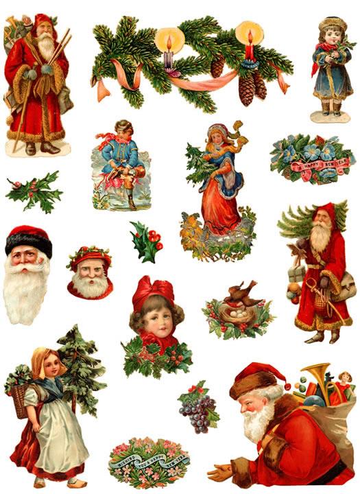 Little Grey Bungalow: Vintage Images - Christmas Clipart
