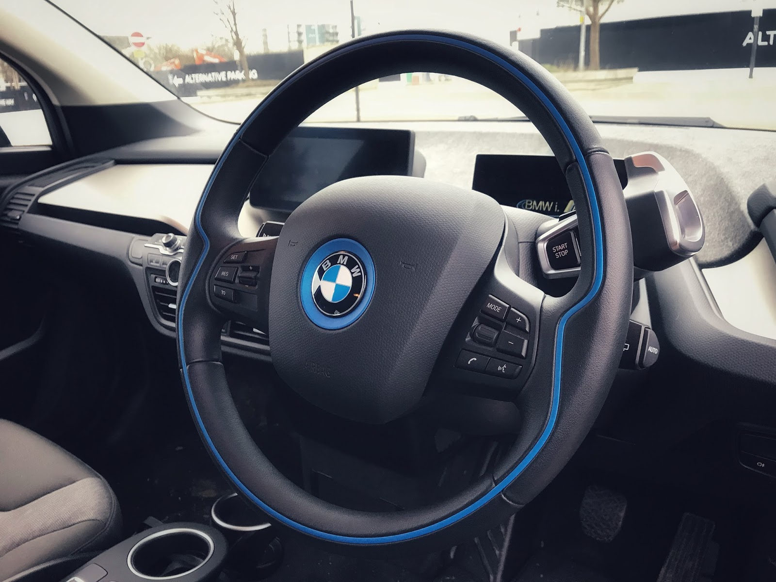 BMW i3 Electric Car interior