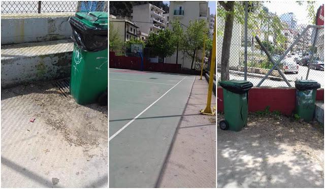 Ηγουμενίτσα: Άμεση παρέμβαση της Δημοτικής Αρχής στα γηπεδάκια (+ΦΩΤΟ)