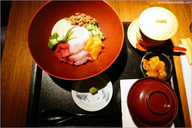 Hanabi Don Set del Restaurante Japonés Ootoya en Nueva York