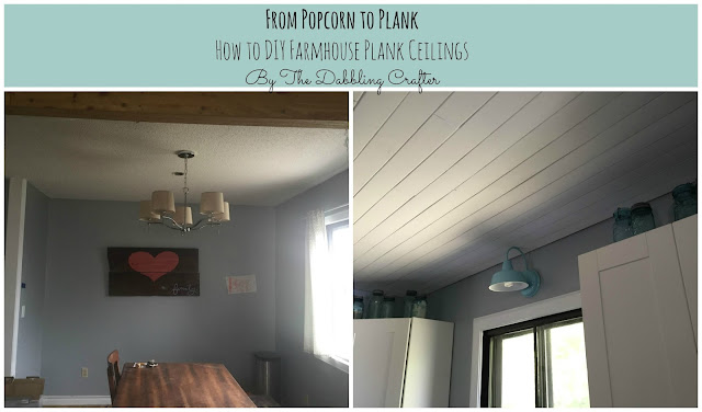 The Dabbling Crafter Diy Plank Farmhouse Ceilings