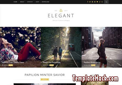 elegant full post blogger template