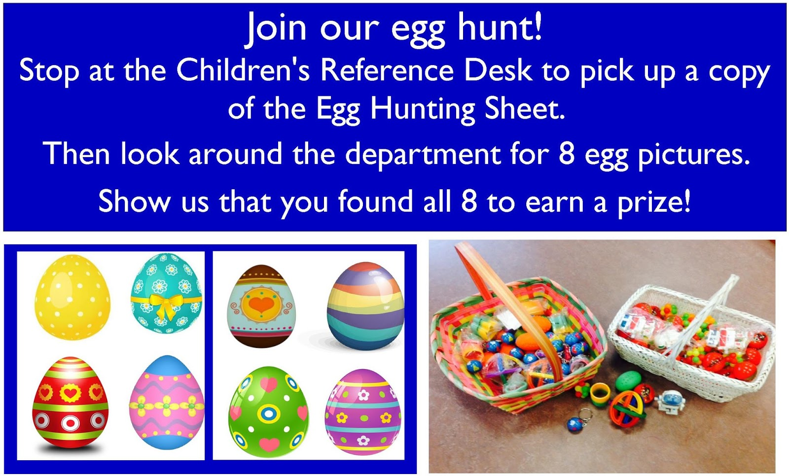 Librarylaura An Egg Hunt 39 Round The Depatrment