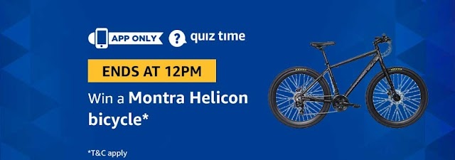 Amazon 21st March Quiz Answers – Win Montra Bicycle