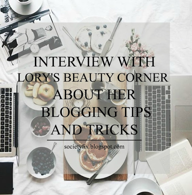I am so happy today. Today is not just another blogging tips from me that I have got from my experience. Today, I am bringing another great blogger to tell us all about her experience in the blogging world, her inspiration and her advice to all of us. Today I will be interviewing LORY from LORY'S BEAUTY CORNER. But wait no, we won't have an interview, but we will be chatting together and I'll be knowing her better and you too guys.  Please make sure you go and check her blog LORY'S BEAUTY CORNER to enjoy perfect fashionable wearable looks.