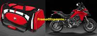 Logo Concorso ''Vinci Ducati'': 50 borsoni da palestra e 1 moto Ducati Multistrada