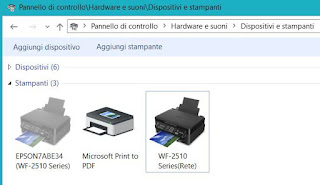impostare condivisione stampante