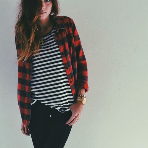 plaid shirt outfit ideas