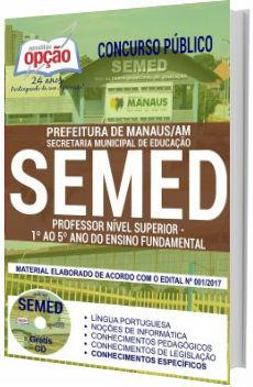 Apostila Concurso SEMED Manaus 2018 - Professor Nível Superior