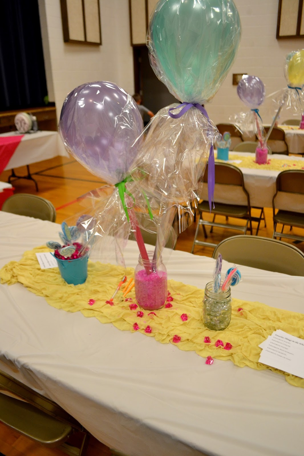 Balloon Lollipop Centerpieces