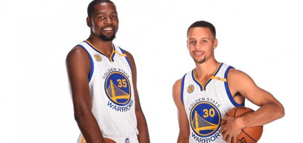 Kevin Durant et Stephen Curry ensemble chez les Golden State Warriors