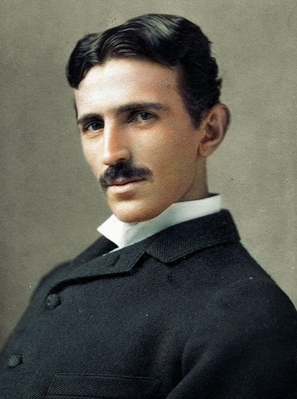 28 Realistically Colorized Historical Photos Make the Past Seem Incredibly Alive - Nicola Tesla
