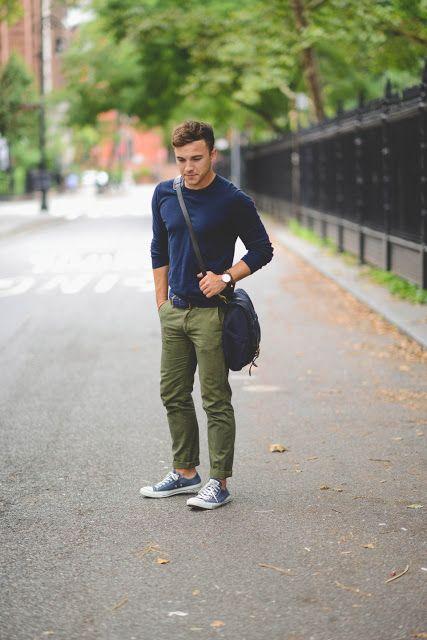 Look Masculino com Calça Verde