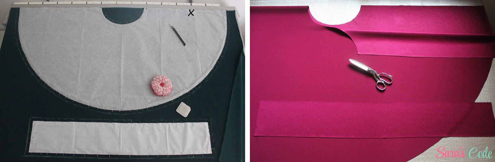 DIY Falda circular con vuelo (Parte I) ~ Sara's Code  Blog de Costura + DIY f380c15c7e85