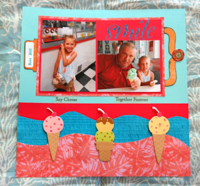 Ice Cream Cones Scrapbooking Page Layout Idea