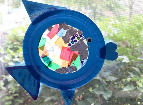 fish sun catcher preschool craft
