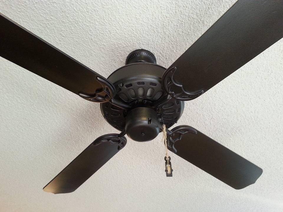 The Boho Bird: Just Spray Paint It: Brass Ceiling Fan Flip