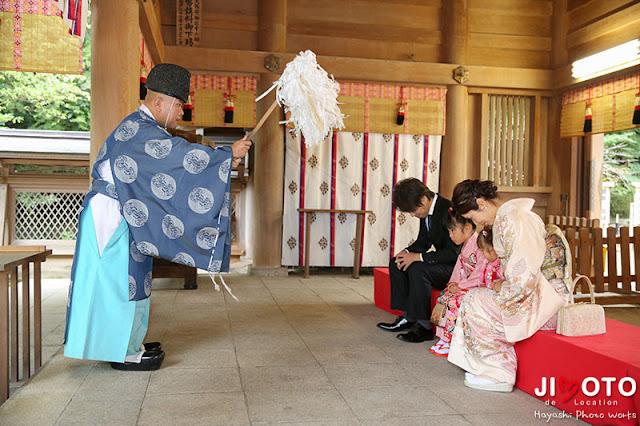 四條畷神社での七五三出張撮影