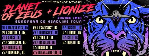 PLANET OF ZEUS: Τον Απρίλιο σε Ευρωπαϊκή περιοδεία με τους Lionize