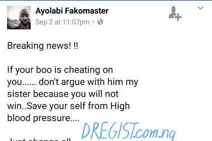 Ladies, If Your Boo Cheats On You, DO THIS - Facebook User