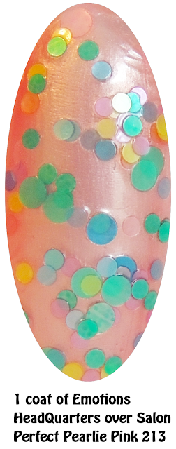Emotions Headquarters over Salon Perfect Pearlie Pink 213- Nails